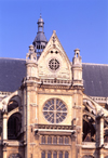 Paris, France: sundial of St. Eustache church - Gothic architecture by Domenico da Cortona - rue Montorgueuil, Les Halles - Ier arrondissement - photo by A.Bartel