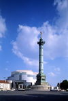 Paris, France: New Opera House and the Colonne de Juillet - Place de la Bastille - 12th arrondissement - photo by A.Bartel
