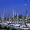 France - Cherbourg / CER (Manche / Cotentin, Normandy): boats in the harbour - photographer: A.Bartel