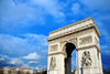 Paris, France: Arc de Triomphe - Place Charles de Gaulle, ex-Étoile - inspired by the Roman Arch of Titus - centre of a dodecagonal configuration of twelve radiating avenues - Axe historique - photo by M.Torres