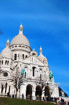 Paris, France: Sacré-Coeur Basilica / Basilica of the Sacred Heart - summit of the butte Montmartre, the highest point in the city - architect Paul Abadie - basilique du Sacré-Cœur, dite du Vœu national - Montmartre district, 18e arrondissement - photo by M.Torres