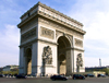 France - Paris: Arc de Triomphe at 3/4 - photo by K.White
