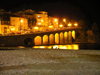 France - Languedoc-Roussillon - Pyrénées-Orientales - Collioure - Cotlliure: waterfront and beach at night - Côte Vermeille - photo by T.Marshall