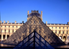 Paris, France: Louvre Museum - Louvre Pyramid - glass and metal structure used as the museum's main entrance - 1er arrondissement - photo by A.Bartel