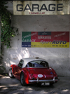 Montmeyan, Var, PACA, France: red Austin Healey with Australian (Victoria) license plates, at Garage Tremellat - Route Barjols - photo by T.Marshall