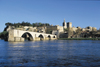 Avignon, Vaucluse, PACA, France: Avignon Bridge (Pont Saint-Bénezet / Pont d'Avignon), Notre Dame des Doms cathedral and the Papal Palace (Palais des Papes) - Rhône River - UNESCO World Heritage Site - photo by R.Eime