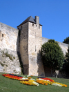 Caen, Calvados, Basse-Normandie, France: tower on the castle wall - photo by A.Bartel