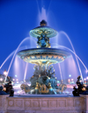 Paris, France: Place de la Concorde - Fontaine des Mers - fountain designed by the architect Jacques Ignace Hittorff - photo by A.Bartel