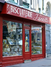 Honfleur, Calvados, Basse-Normandie, France: biscuit shop - Biscuiterie Jeannette - photo by A.Bartel