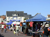 Pirou Plage, Manche, Basse-Normandie, France: market scene - photo by A.Bartel