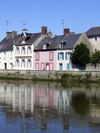 Isigny-sur-Mer, Calvados, Basse-Normandie, France: waterfront houses - photo by A.Bartel