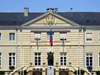 Isigny-sur-Mer, Calvados, Basse-Normandie, France: Town Hall and war monument - Hotel de Ville - photo by A.Bartel