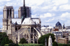 Paris, France: Notre Dame Cathedral - seen from the east - apse and flying buttresses - Gothic architecture - chevet et arcs-boutants -  Ile de la Cité, 4e arrondissement - photo by K.Gapys