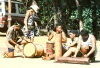French Polynesia - Ua Huka island - Marquesas: drummers (photo by G.Frysinger)