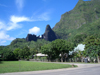 French Polynesia - Moorea / MOZ (Society islands, iles du vent): under the mountains - road - photo by R.Ziff