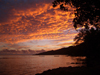 French Polynesia - Moorea / MOZ (Society islands, iles du vent): red sky - photo by R.Ziff