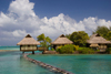 Papetoai, Moorea, French Polynesia: InterContinental Hotel - overwater bungalows - South Pacific Ocean - photo by D.Smith