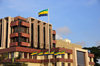 Libreville, Estuaire Province, Gabon: Gabonese flags fly at the Presidential Palace complex - Front de Mer - Boulevard de l'Ind�pendance - photo by M.Torres