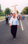 Comrat / Komrat, Gagauzia, Moldova: Christian procession with a Turkish congregation - religious procession - photo by M.Torres