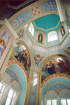 Comrat / Komrat, Gagauzia, Moldova: Church of St John - interior of the dome - photo by M.Torres