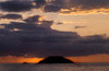 Isla Isabela / Albemarle island, Galapagos Islands, Ecuador: cloudy sunset from the coast of Isla Isabella - photo by C.Lovell