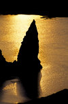 Bartolomé Island, Galapagos Islands, Ecuador: Pinnacle Rock at sunset - photo by C.Lovell