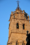 Lugo, Galicia / Galiza, Spain: eastern tower of the Cathedral, on Praza de Santa María - photo by M.Torres