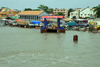 Banjul, The Gambia: ferry terminal seen from the river - photo by M.Torres