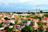 Banjul, The Gambia: skyline of the low-rise Gambian capital with the River Gambia as Background - minarets of King Fahad Mosque on the right - photo by M.Torres