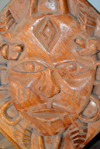 Banjul, The Gambia: horned devil wood carving, part of West African Ju-Ju, the local form of witchcraft - photo by M.Torres