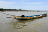 Albreda, Gambia: fishermen's canoe on the River Gambia - photo by M.Torres