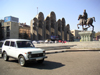 Georgia - Tbilisi / Tblissi / TBS: Lada Niva on Celebrations Square - photo by A.Kilroy