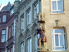 Germany / Deutschland - Trier: decorated corner - photo by M.Bergsma