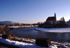 Germany - Bavaria - Laufen, Landkreis Berchtesgadener Land, Upper Bavaria: winter on the Salzach river - photo by F.Rigaud