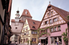 Germany - Bavaria - Rothenburg ob der Tauber - Mittelfranken / Middle Franconia: façades in the centre - photo by R.Eime