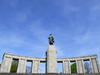 Berlin, Germany / Deutschland: Red Army Monument - Soviet war memorial in the Tiergarten - Strasse des 17. Juni - stoa built with materials from the ruins of the Reich Chancellery - architect Mikhail Gorvits - photo by M.Bergsma