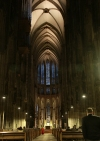 Germany / Deutschland - Cologne / Koeln / CGN (North Rhine-Westphalia): the Cathedral - dark interior - Unesco world heritage site  (photo by G.Friedman)