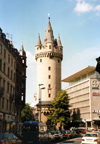 Germany / Deutschland - Frankfurt am Main (Hessen / Hesse) / FRA: Eschenheimer Tower - part of the city's medieval fortifications - Innenstadt / Eschenheimer Turm - photo by M.Torres