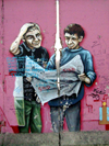 Germany / Deutschland - Berlin: graffiti on the Berlin Wall - photo by M.Bergsma