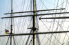 Germany / Deutschland - Hamburg: the Rickmer Rickmers - detail of the masts (photo by W.Schmidt)