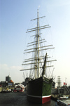 Germany / Deutschland - Hamburg: the Rickmer Rickmers - the square-rigg sailing ship in the harbour of Hamburg now is a museum (photo by W.Schmidt)