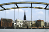 Germany / Deutschland - Hamburg: bridge and skyline (photo by W.Schmidt)