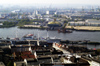 Germany / Deutschland - Hamburg: the harbour from above (photo by W.Schmidt)