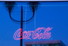 Germany - Berlin: neon - Coca Cola logo in a bar window / Coca Cola Schriftzug im Fenster einer Bar - Coca Cola Werbung (photo by W.Schmidt)