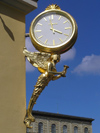 Germany - Bavaria - Munich / M�nchen: Golden clock - Huber - photo by J.Kaman