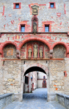 Würzburg, Lower Franconia, Bavaria, Germany: Marienberg fortress - detail of the Scherenberg gate - photo by M.Torres
