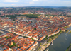 Würzburg, Lower Franconia, Bavaria, Germany: the old city from the air - Altstadt - photo by D.Steppuhn
