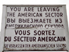 Germany / Deutschland - Berlin: Checkpoint Charlie - leaving the American sector - photo by M.Bergsma