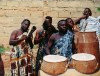 Kumasi: drummers (photo by Gallen Frysinger)