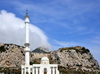 Gibraltar: a mosque where Europe starts - King Fahd bin Abdulaziz al-Saud Mosque, aka Mosque of The Custodian of the The Two Holy Mosques, aka Ibrahim-al-Ibrahim Mosque at Europa Point - photo by M.Torres